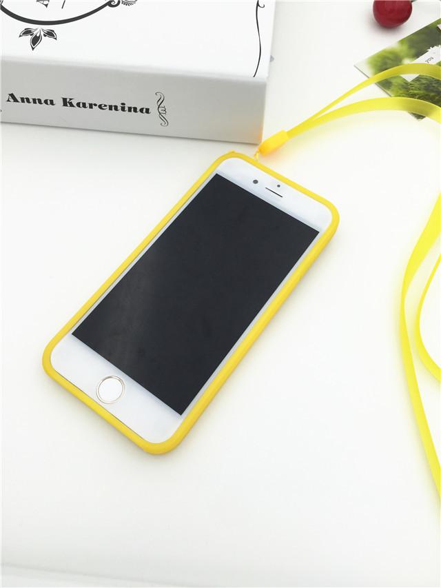 小清新 柠檬 iphone6手机壳 挂绳