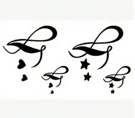 英文字母 爱心 小清新刺青 时尚潮款 男女 防水 纹身贴 纹身 满 9.