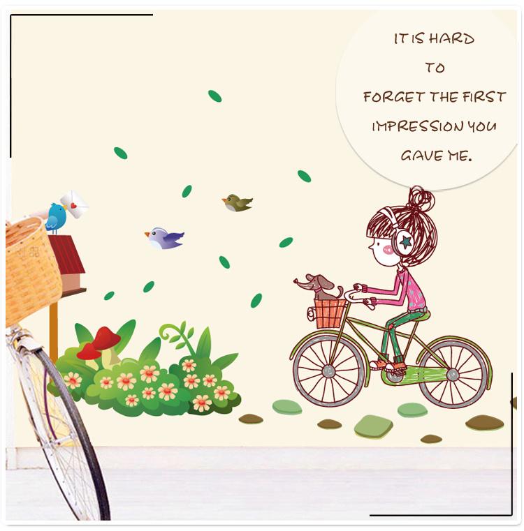 自行车贴花平面设计