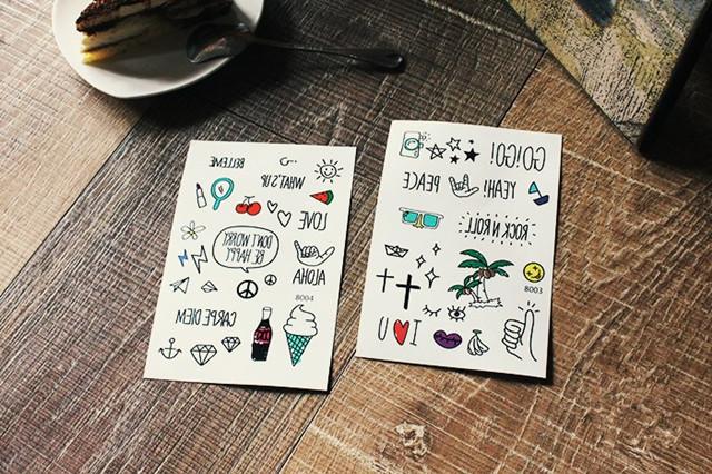 【2张】韩版ulzzang卡通纹身贴
