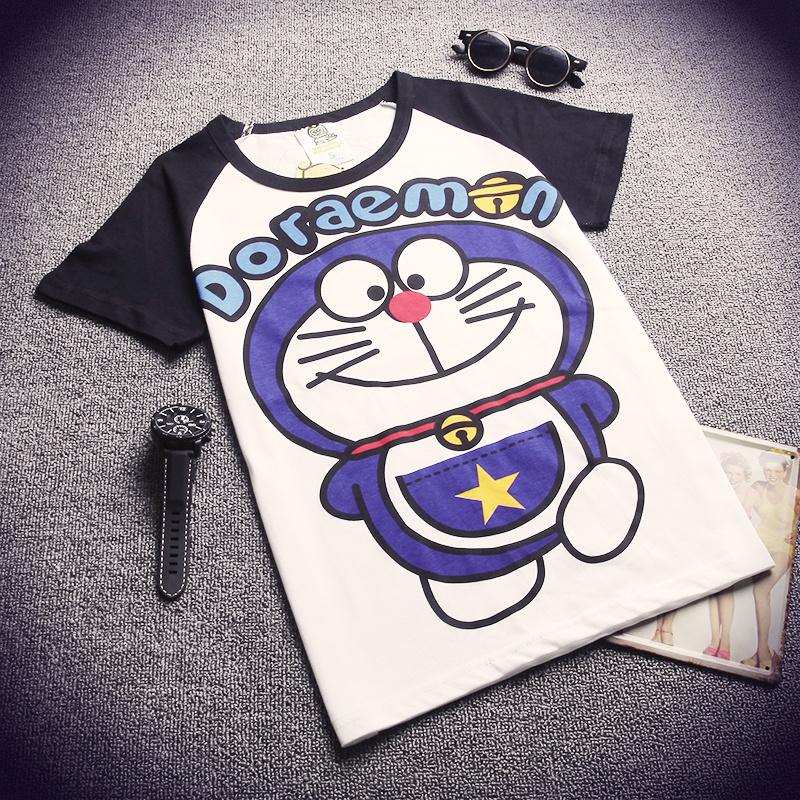 【皇后】实拍可爱机器猫卡通t恤