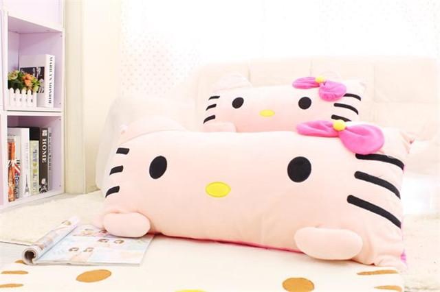 萌萌哒卡通kt猫可爱单双人抱枕头