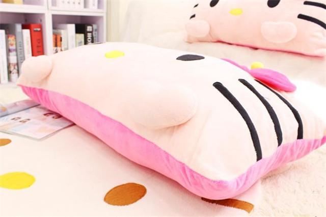 可拆洗卡通可爱kt猫单人枕头睡觉抱枕大号