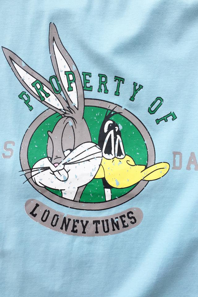 精棉清新可爱兔八哥印花短袖t恤
