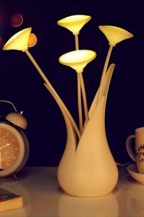 智能居家花朵光控小夜灯