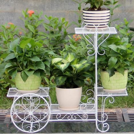 【欧式铁艺花架多层 阳台绿萝落地】--铁艺家居生活