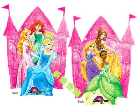 【正品进口大号迪士尼城堡公主铝膜气球女孩生日派对
