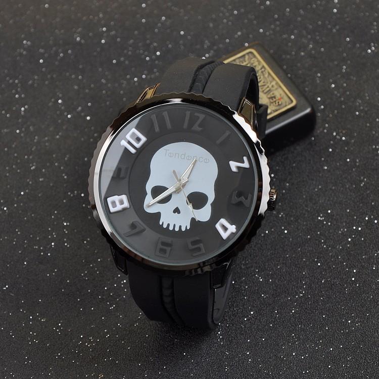 【个性骷髅头欧美街头男士手表】-配饰-腕表
