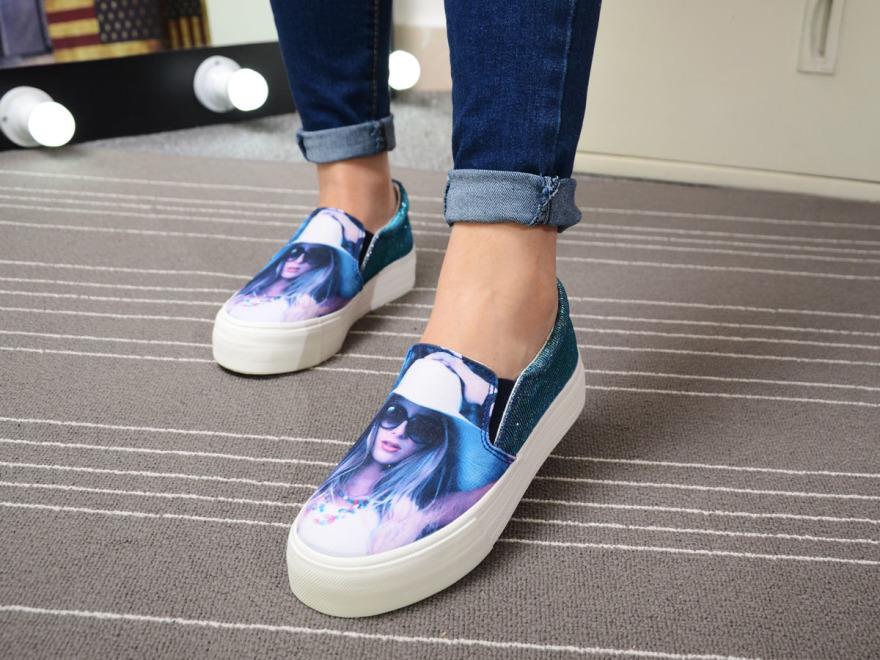 【夏季新款3d印花美女头像帆布鞋】-鞋子-帆布鞋