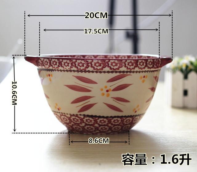 陶瓷欧式手绘烤碗