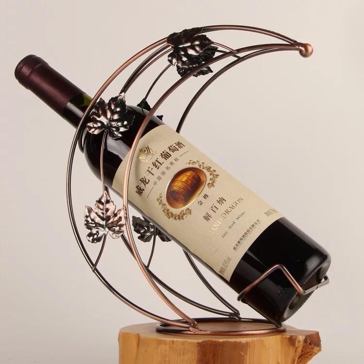 欧式红酒架 创意铁艺时尚】--从头再来丹