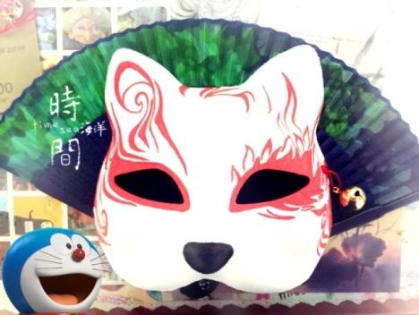 【手绘和风狐狸面具】-无类目-其他-君临天下