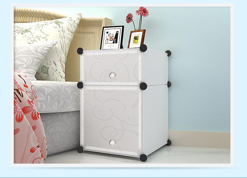 【简约组装简易床头柜】-家居-床头柜