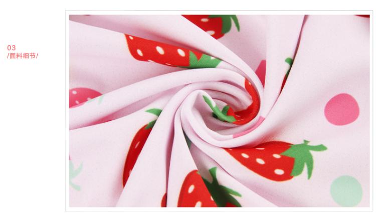【甜美草莓印花修身裙式连体泳衣】-衣服-女士内衣