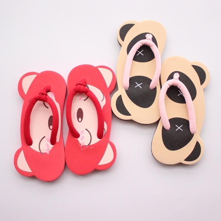个性时尚夏季沙滩卡通可爱阿狸夹脚趾人字凉拖熊猫女生休闲平跟鞋