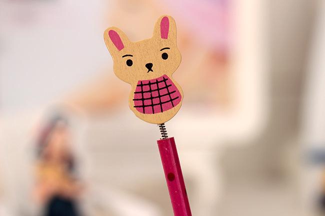可爱动物头多彩铅笔 学生素描绘画笔
