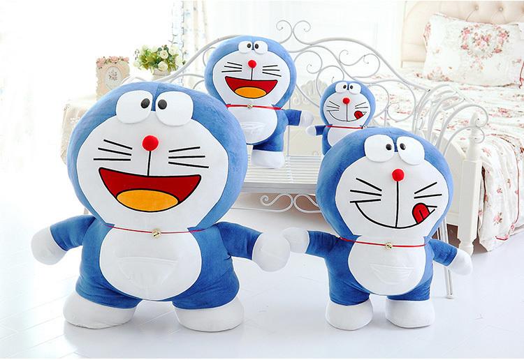 正版蓝胖子机器猫布娃娃多哆啦a梦公仔doraemon女生日礼