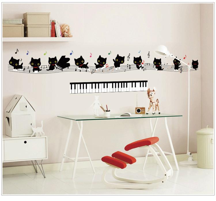 钢琴学校墙面手绘