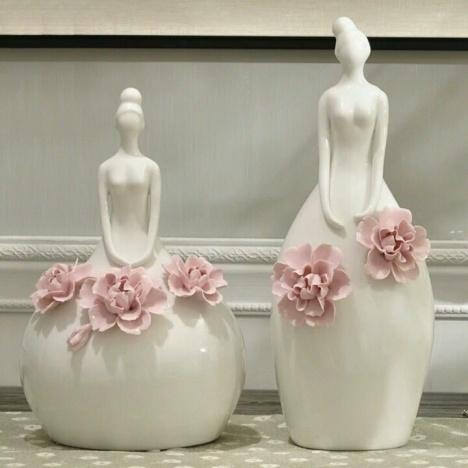 【欧式彩色花朵陶瓷制成艺术摆件】-其他特色工艺品