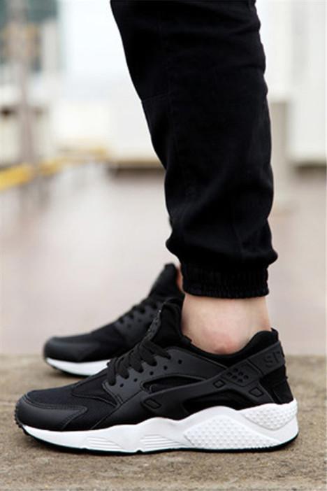 华莱士黑白男鞋女鞋休闲鞋情侣鞋运动鞋跑步鞋韩版