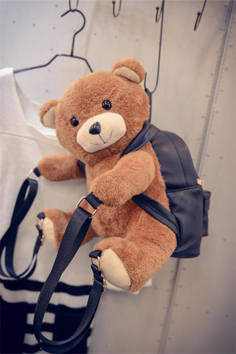 超爱款~~萌萌哒可爱小熊双面背双肩包