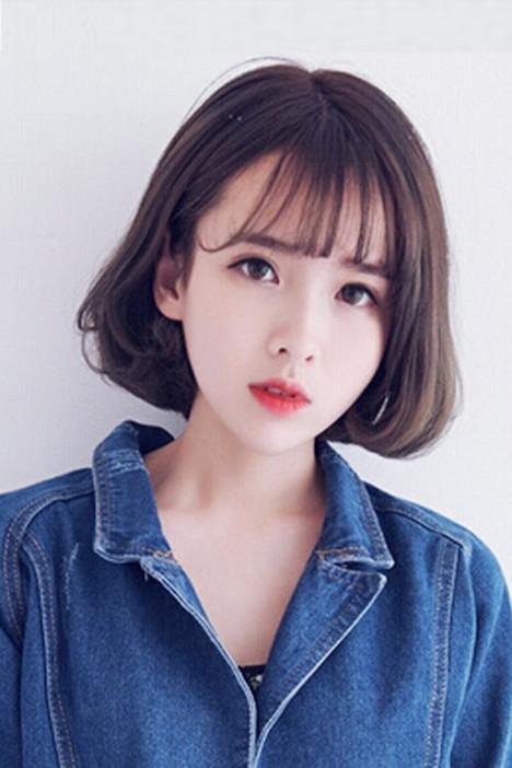 韩国时尚薄空气刘海假发女短发bobo内扣修脸整顶假发套