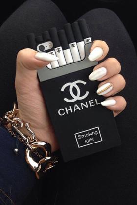 潮牌黑白个性香烟iphone手机壳