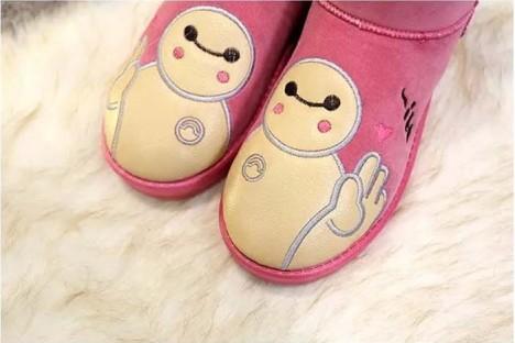 【2015冬季雪地靴平跟可爱大白加厚棉靴保暖棉鞋】