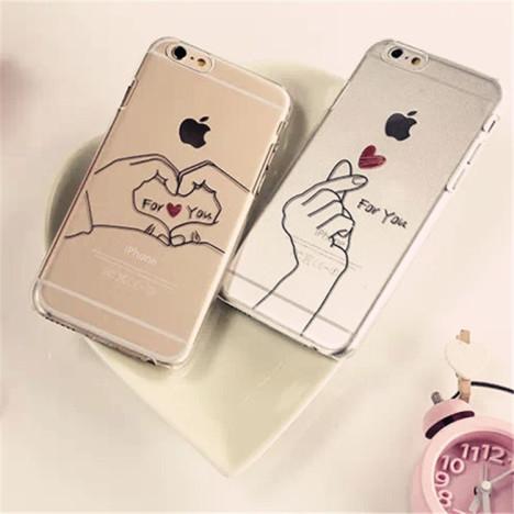 exo伯贤同款iphone6情侣手机壳单手爱心苹果6plus