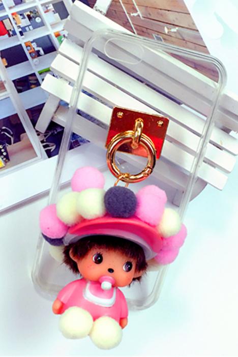 手机壳,苹果,新款,可爱,蒙奇奇,毛球