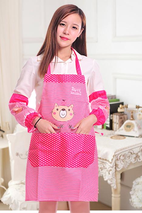 韩版 可爱小熊 卡通袖套 卡通围裙 套装
