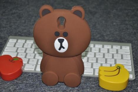 vivoy33卡通可爱布朗熊硅胶套