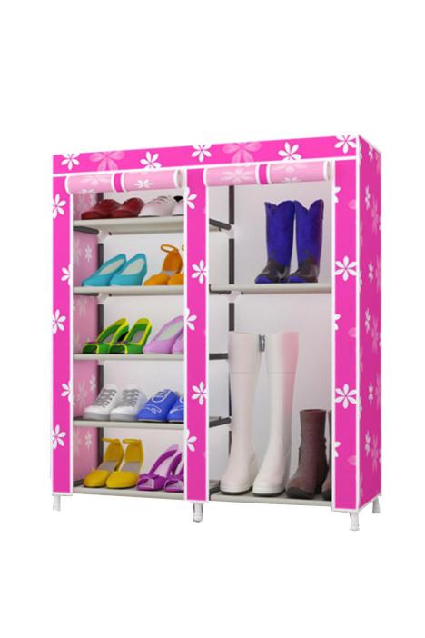 【【全国包邮】双排简易组装鞋柜防尘鞋架】-家居