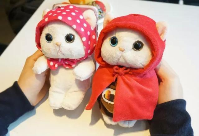 【送钢化膜】韩国可爱甜蜜猫 iphone6s手机壳苹果5挂绳