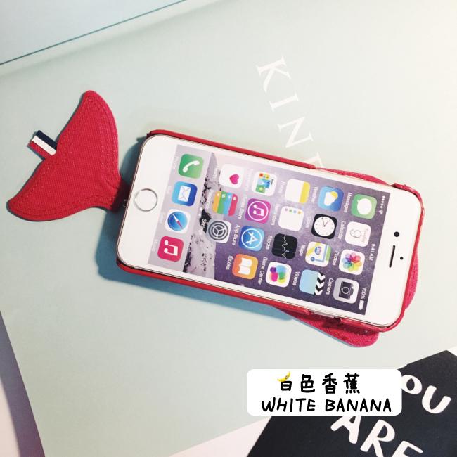 恶搞tb超可爱鲸鱼小尾巴带标全皮iphone6s手机壳保护套