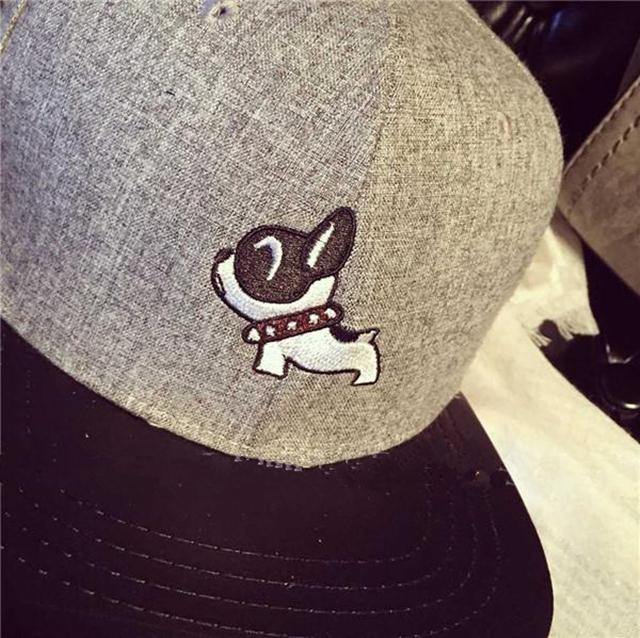 韩版秋冬刺绣动物图案棒球帽