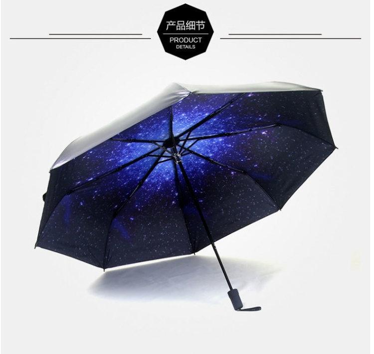 【创意星空小黑伞】-家居-百货图片