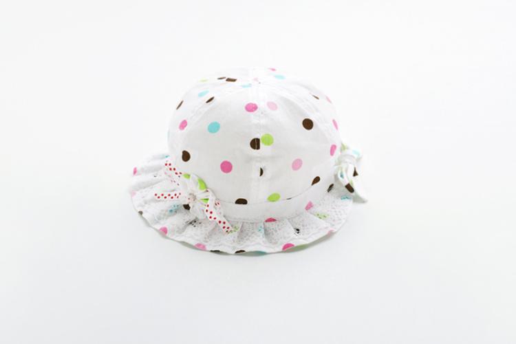 商品描述 好漂亮的帽帽,彩点白底,清新简约,不挑人噢,哪位公主戴上它