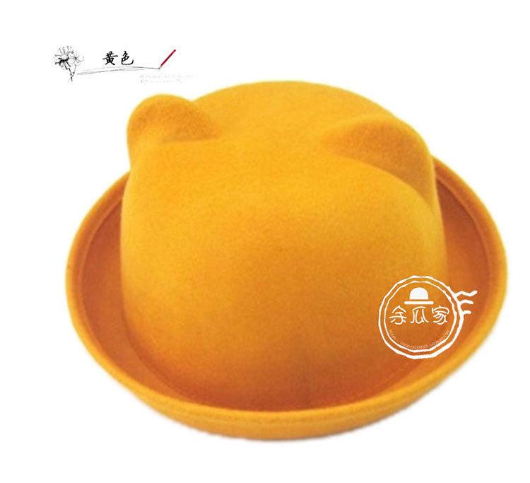 可爱猫耳朵小圆帽