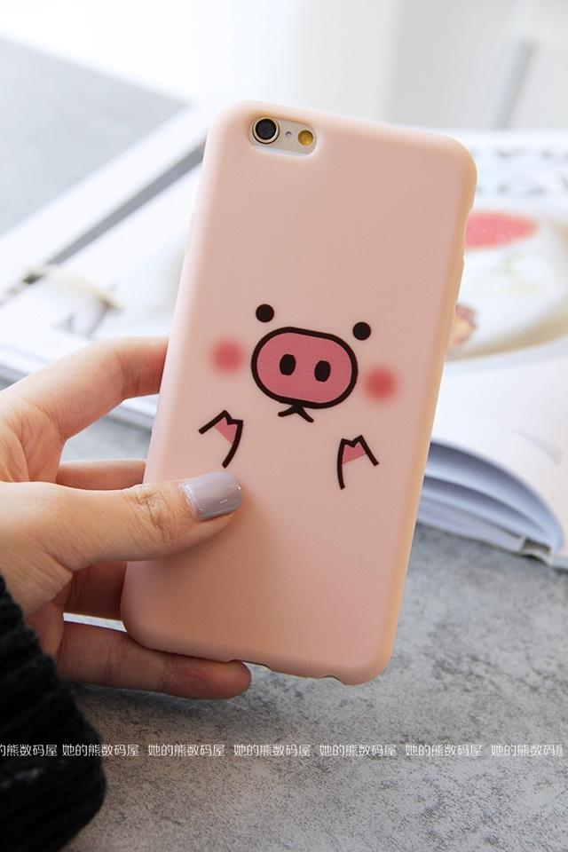 她的熊可爱小猪猪iphone6s手机壳