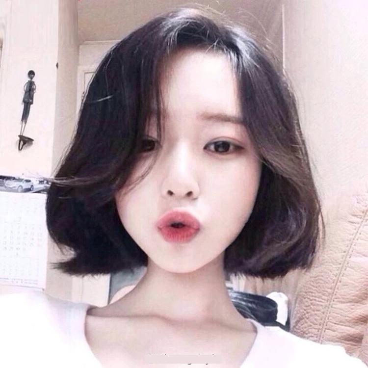 jkl 韩国女生中分bobo头短发梨花头短卷发