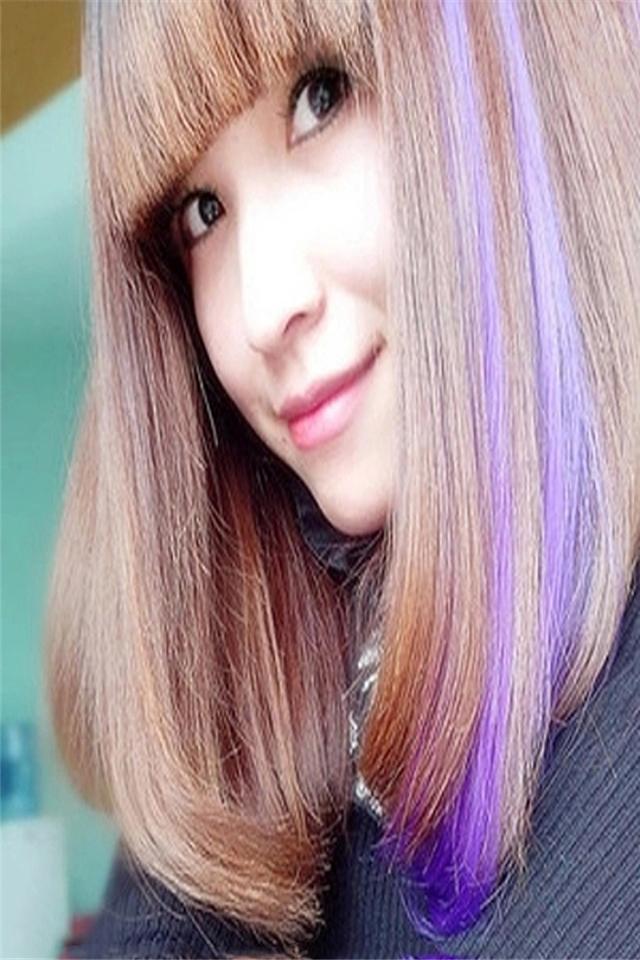 头饰发饰品头花女长短发彩色挑染渐变漂染彩色假发片发带图片