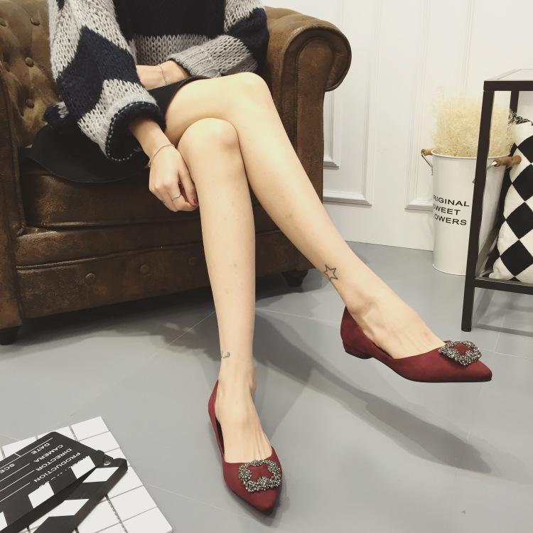 【欧美杂志款式时尚大牌水钻单鞋】-鞋子-单鞋
