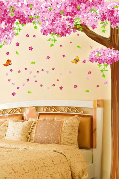 【大型客厅电视机背景大树墙贴纸】-家居-贴饰