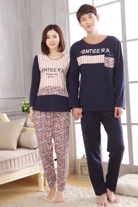 春秋季睡衣,可爱小清新,情侣睡衣,男女家居服,衣裤两件套,小碎花,长袖