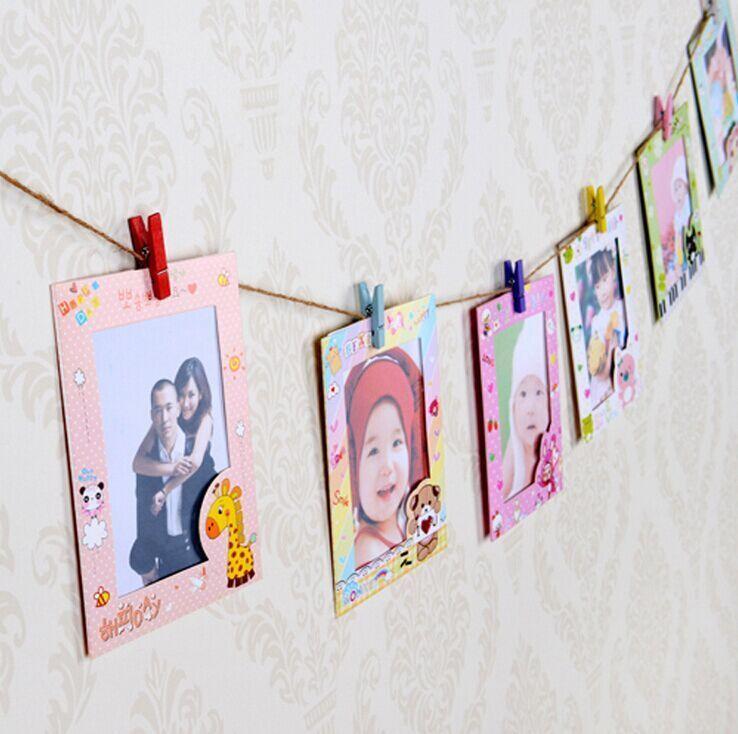 【可爱6寸卡通动物家族组合挂墙相框】-配饰-相片墙