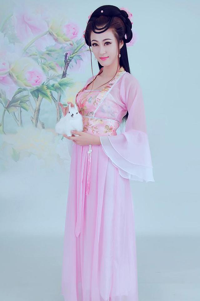 古装服装仙女汉服女装汉服襦裙性感古装女七仙女贵妃装古筝演出服