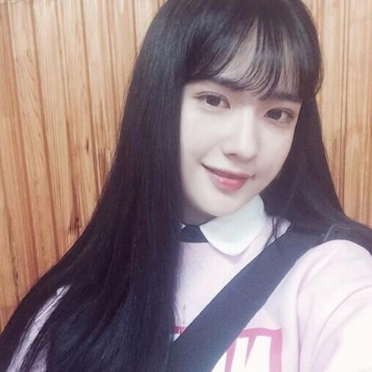 韩国假发女空气刘海长直发图片