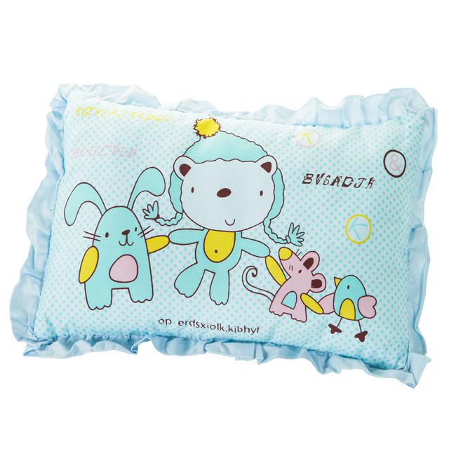 新品纯棉可拆卸卡通婴儿枕头