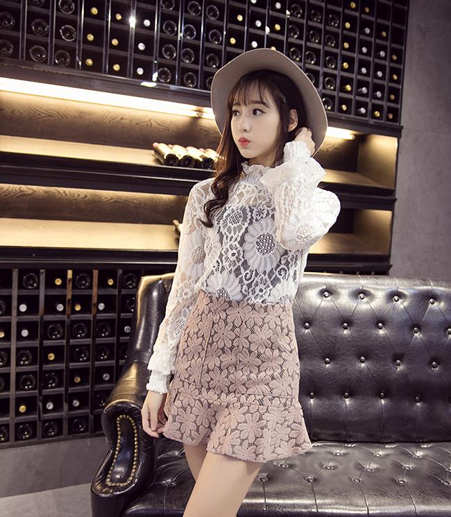 【蕾丝高腰半身鱼尾裙】-衣服-半身裙图片